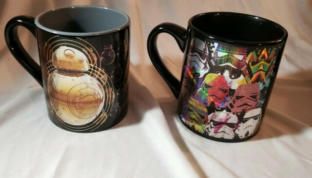 New Star Wars BB8 and Clones Holographic  Coffee Mug 14 Oz. Lot of 2 Cups  BX21