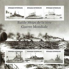 BATTLE SHIPS OF THE WORLD NAVAL MILITARY WAR VESSELS 2015 MNH STAMP SHEETLET