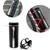 Mountain Sport Bike Bicycle Cycling Water Bottle+Holder Cage Rack 750ml