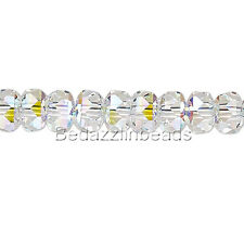 Lot of 10 Little 4mm x 2.5mm(5045) Swarovski Crystal Faceted Rondelle Disc Beads
