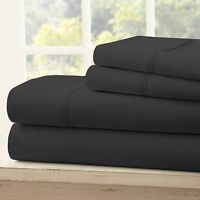 4-Piece Home Collection Ultra Soft Deep Pocket Twin Bed Sheet Set (Multiple Colors)