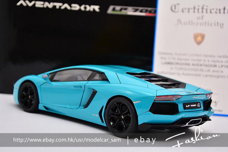 AUTOart AUTOart AUTOart 1 18 lamborghini Aventador LP700-4 bluee d72f55