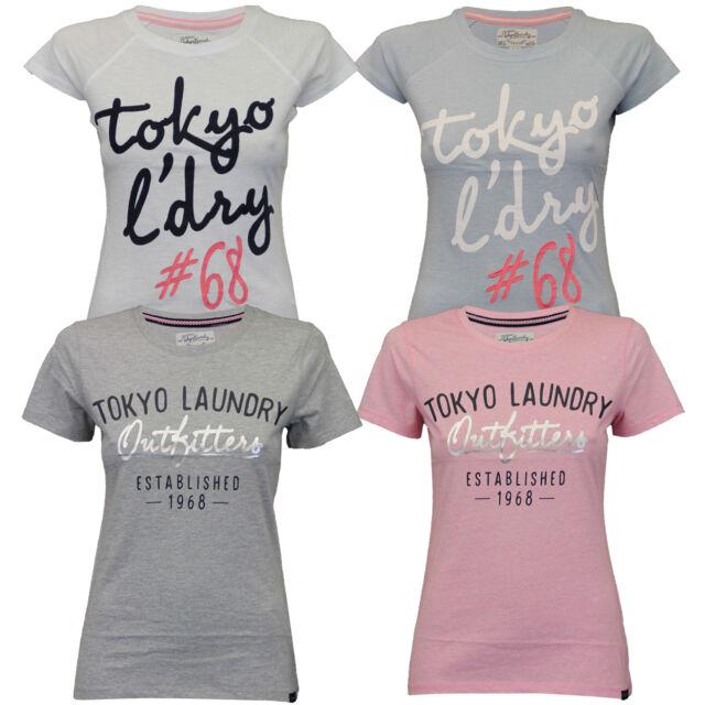 haut femme TOKYO LAUNDRY T-Shirt Femme mancheron feutre BRODERIE imprimé été