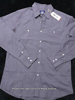 Jordan Craig Mens Long Sleeve Button Up Shirt Size Large Gray