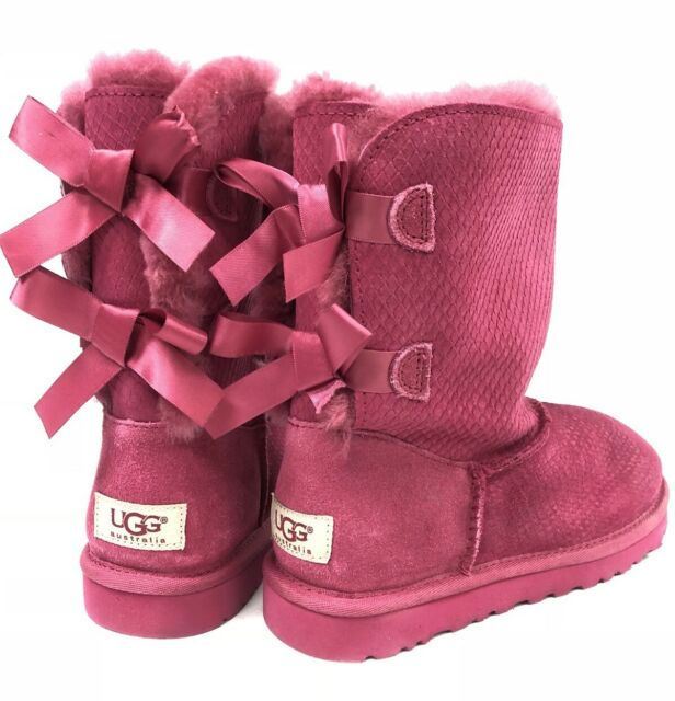 89d0ca4347c UGG Australia BAILEY BOW EXOTIC SCALE Tropical Sunset BOOT 1007526 Scales  sz 6