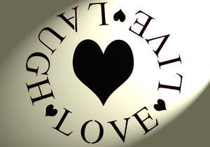 HARVEST LOVE STENCIL A5 Furniture Vintage Shabby Chic 190 MYLAR PLANT SMILES