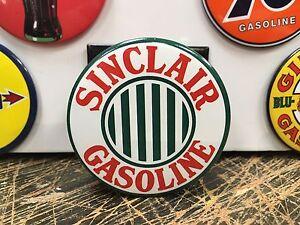 SINCLAIR stripes GASOLINE top QUALITY porcelain coated 18 GAUGE steel SIGN