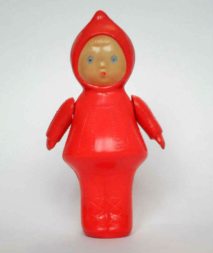 1970s USSR Russian Soviet CELLULOID Toy Doll Little Girl