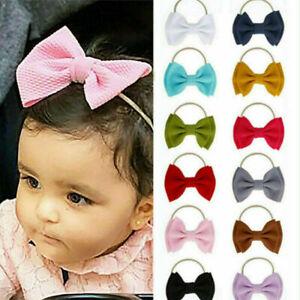 Kids-Baby-Girls-Toddler-Bow-Hair-band-Headband-Stretch-Turban-Knot-Head-Wrap