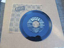 Frankie Froba Snooky Ookums 45 b/w At Sundown Decca Excellent