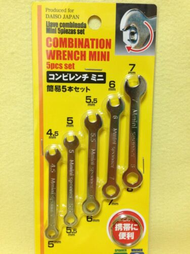 From Japan COMBINATION WRENCH /& SPANNER MINI 5pcs//set DAISO JAPAN