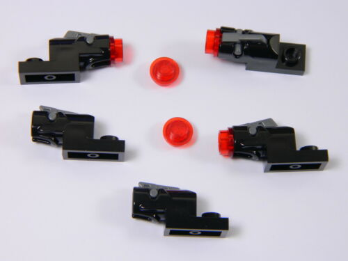 LEGO Star Wars laser blaster x5 RED mini shooter weapon for minifigures cannon