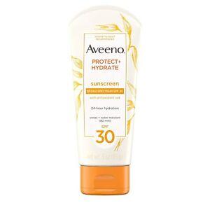 Aveeno Proteggere + Hydrate SPF 30 Crema Solare Lozione, 85 G (89ml) W/