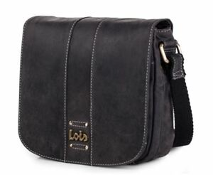 mejor autentico conseguir baratas belleza Detalles de bolso bandolera de mujer de piel negra o marrón leather Lois
