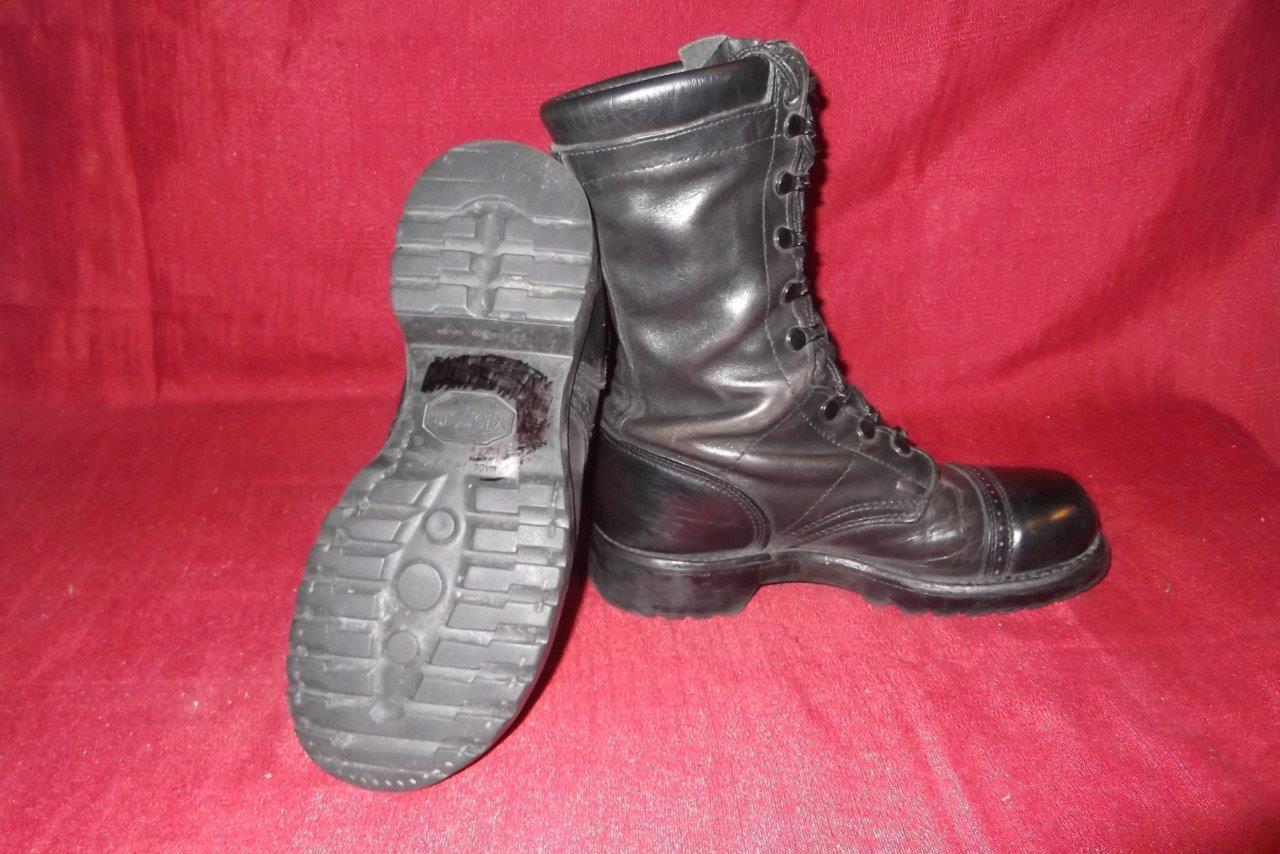Military 7 M Corcoran Black Leather Jump Combat Boots USGI Men Boys Vietnam  415