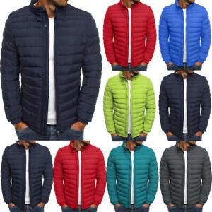 Uomo-Inverno-Stand-Collare-caldo-Piuma-Giu-Cappotto-Packable-Outercoat-Outwear