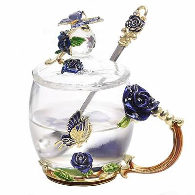 Lilyss Tea Cups Coffee Mug With Lid Spoon For Women Girls Unique Beautiful St Ebay