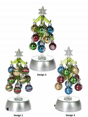 Ganz H8 Glass Christmas Tree 8in Figurine w// Ornaments EX29343 Choose
