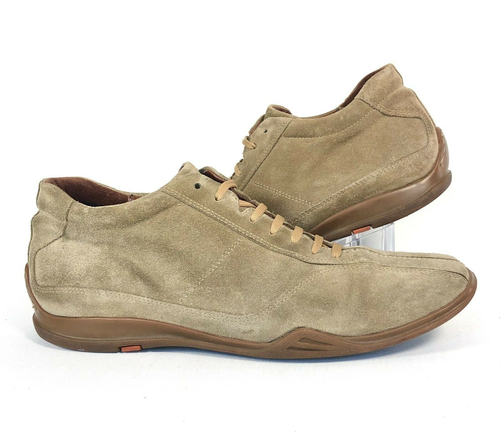 Barneys New York Mens Beige Tan Suede Leather Casual Walking Shoes Size 8.5 Mens
