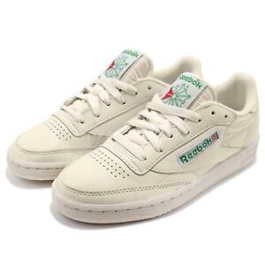 Reebok-Club-C-85-Vintage-Leather-Chalk-Green-Women-Classic-Shoes-Sneakers-BS8242