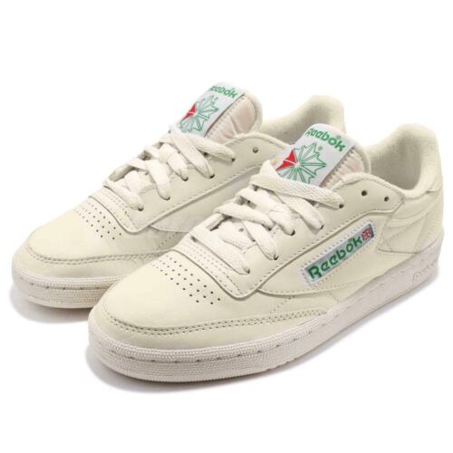 Reebok Club C 85 Vintage Leather Chalk Green Women Classic Shoes Sneakers BS8242