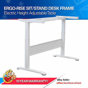 Image Is Loading Electric Height Adjustable Sit Stand Desk Frame Only
