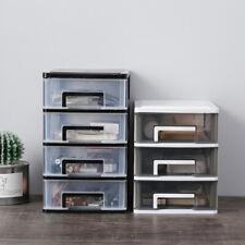 File cabinet Plastic Storage Drawers Desk Storage Unit Organizer Lockable File Cabinet A4 Box for Office//Color Black Size: 275 340 260mm Office Supplies