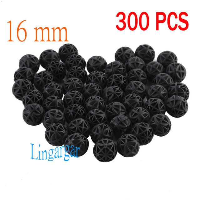 300pcs Aquarium 16mm Bio Balls FREE Bag Filter Media Wet/Dry Koi Fish Pond Reef