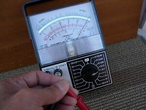 Micranta analog 100k ohms multimeter Japan with tested good. great condition