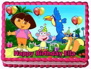 DORA THE EXPLORER EDIBLE CAKE TOPPER BIRTHDAY DECORATIONS ...