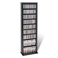Media Tower Storage Cd Dvd Stand Organizer Furniture Slim Adjustable Shelves