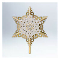 Snowflake Tree Topper 2012 Hallmark Vintage Christmas Design Gold Porcelain
