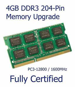 4GB DDR3 Memory Ram Upgrade ASRock N3050B-ITX Motherboard PC3-12800S 1600MHz