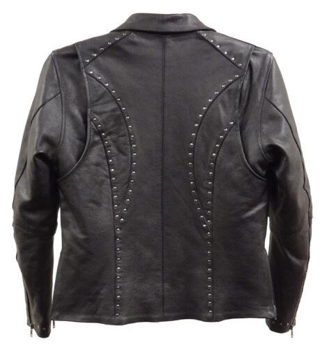 1948 Ladies Black Studded Leather Jacket