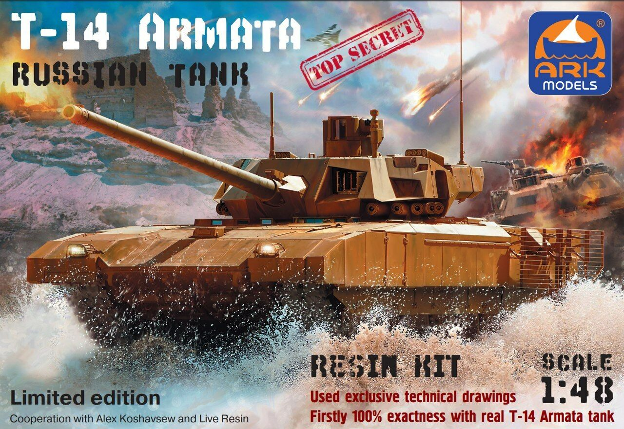ARK MODELS 48099 RUSSIAN TANK T-14 ARMATA LIMITED EDITION 1 48 RESIN PARTS