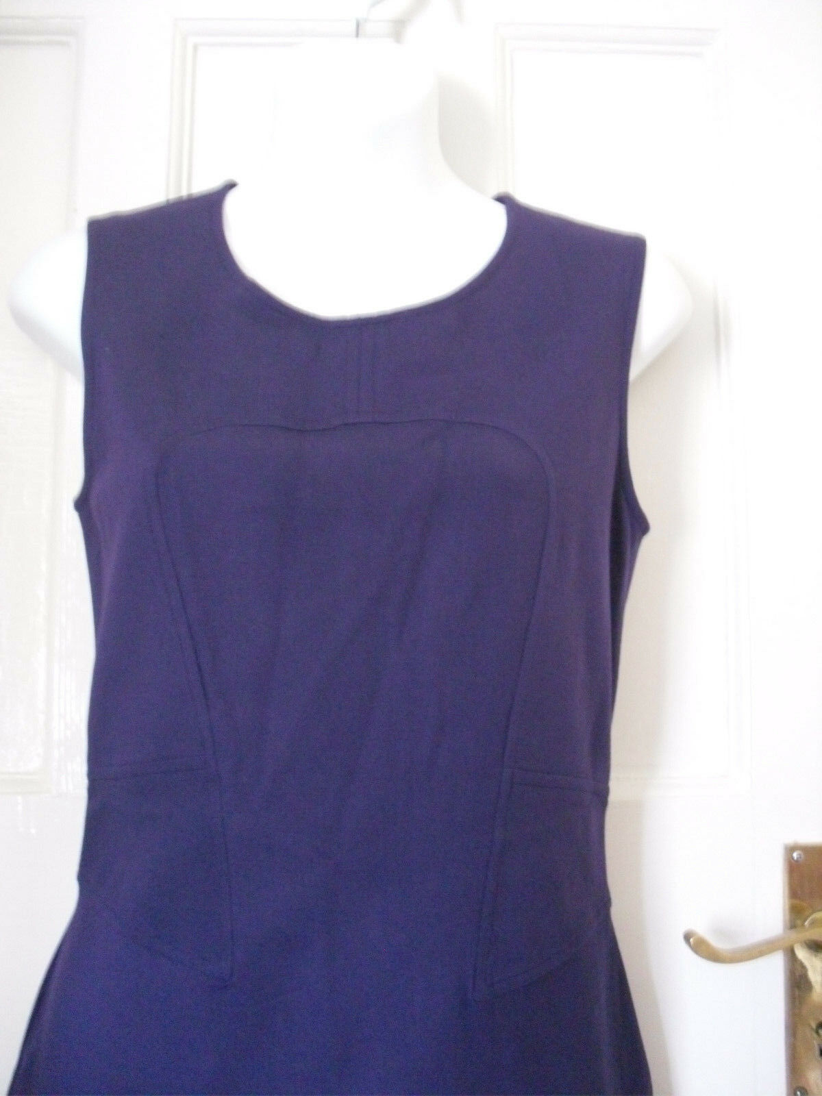 VERSACE Jeans Couture Da Da Da Donna Viola Abito senza maniche taglia 28 42 UK-8-10 (WD24) 79292f