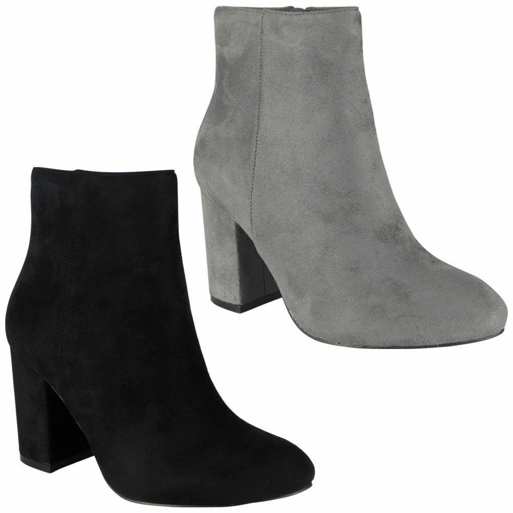 Gentlemen/Ladies Womens Ladies Faux Suede Zip High Heel Work Plain Size Ankle Office Boots Shoes Size Plain Many varieties special function Exquisite workmanship BH1288 76819e