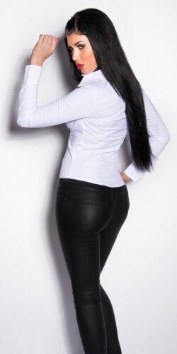 Koucla Eng Taillierte langarm Bluse Hemd