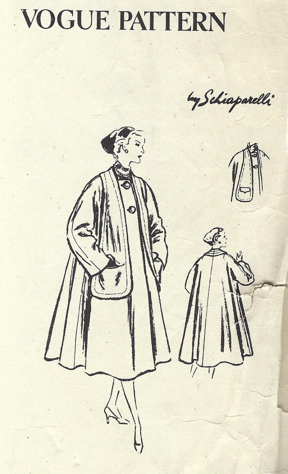 1264 1954 Vintage Vogue Nähen Muster Kleid B30 Von Schiaparelli