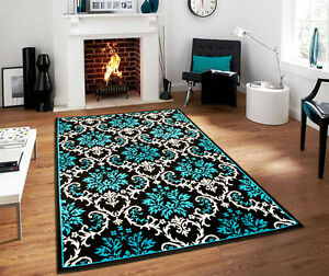 Image Is Loading Luxury Modern Blue Rug 8x10 Contemporary Rugs 8x11