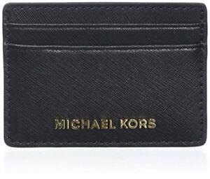 b4321eac26 Michael Kors Porta carte di credito Portafoglio Donna Pelle Jet Set ...