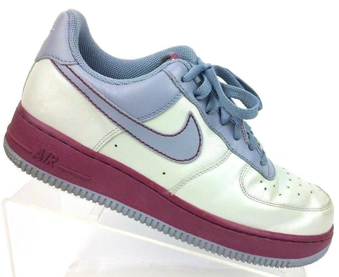 Nike Air Force XXV Metallic Platinum Pebble Grey Red 315115-002 Women's 8.5