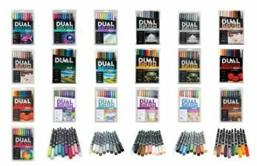 Tombow Dual Brush Pen Markers - Set of 10 (Choose Your Pack)