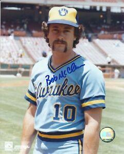 Autographed BOB MCCLURE Milwaukee Brewers 8x10  photo - COA