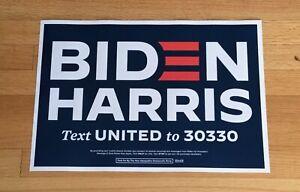 Joe Biden Kamala Harris officiel 2020 président de campagne Signe Poster Placard
