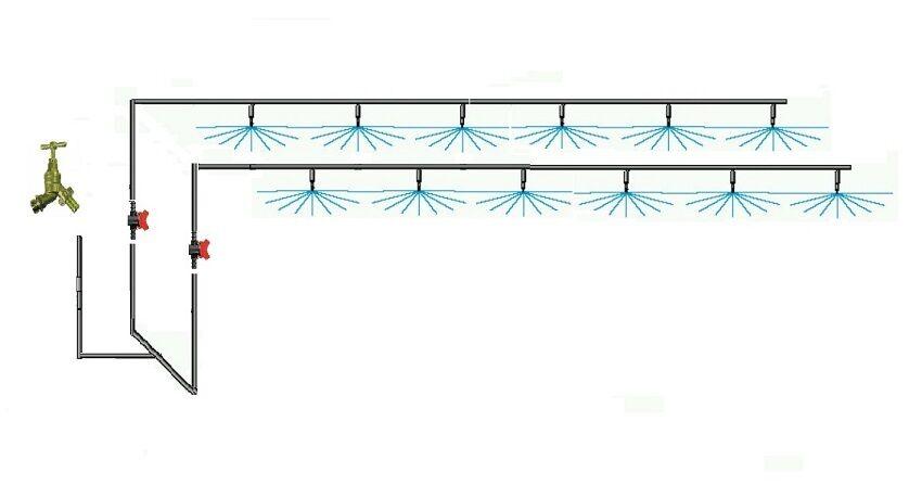 verde Casa Overhead Kit para hasta 12mts X 6mts con o sin Galcon Grifo