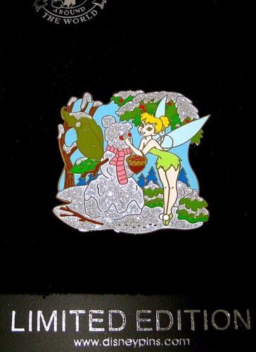 RARE LE 250  Disney Pin✿Tink Tinker Bell Winter Fun Snowman Scarf Pinecone Snow