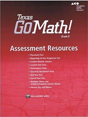 Go Math Texas Grade 6 Assessment Resource With Answers 6th Tests 9780544067509 EBay