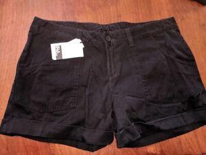 Billabong DRAMA Womens Shorts Black Size 12