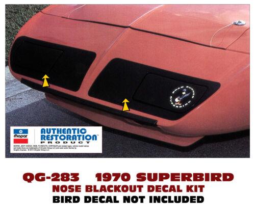 SUPERBIRD DECAL NOSE BLACKOUT QG-283 1970 PLYMOUTH ROAD RUNNER